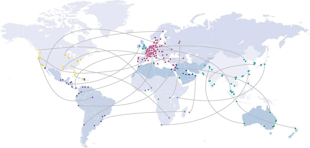 GROWTH OF INTERNATIONAL ACCOUNTANCY NETWORK<br><br><h3>AFRICA, ASIA, AUSTRALASIA, EUROPE, LATIN AMERICA, MIDDLE EAST & NORTH AFRICA, NORTH AMERICA, UK & IRELAND</h3>